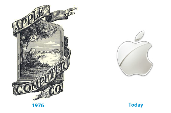 The apple logo is one of the most recognized in the world. Due in large part to its simplicity.
