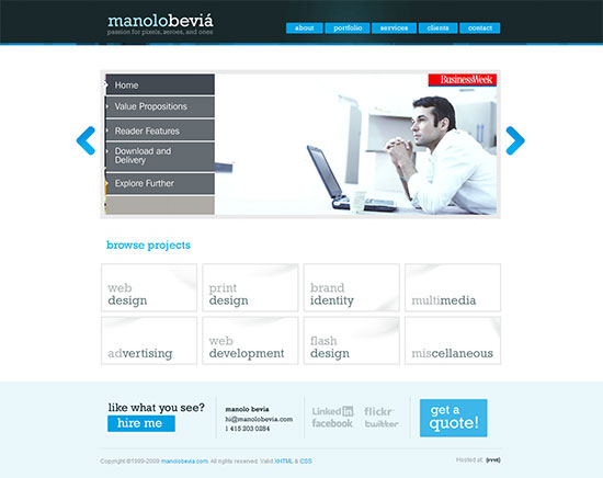 What adjectives would you use to describe this home page?