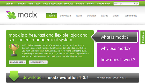 You can find Modx at modxcms.com